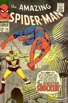 The Amazing Spiderman Spider-Man 46 vintage Marvel comic book app Shocker Marvel Comics, Marvel E Dc, Marvel Comic Books, Comic Books Art, Marvel Heroes, Amazing Spiderman, Amazing Spider Man Comic, Spiderman Book, Spiderman Classic