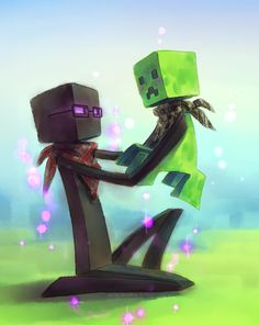 This is an awesome piece of Minecraft fan art by Xin-Tetsu. More here: http://xin-tetsu.deviantart.com/