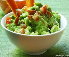 Avocado Dip is always a hit at parties!  #avocado #dip #recipe #skinnyms