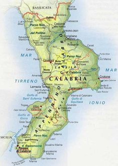 Cartina dettagliata della Calabria My wife was born here. Italian People, Vintage Maps, My Heritage, Italy Travel, Screen Shot, Geography, Formula 1, Travel Ideas, Charts