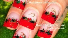 DIY Easy Xmas Nails   Christmas Red Holly Berry Nail Art Design Tutorial