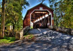 Lancaster Covered Bridge jigsaw puzzle in Bridges puzzles on…
