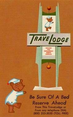 We used to take family road trips and stay in motels - I loved the logo on this one and got excited if we stopped here.