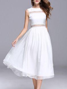 #AdoreWe #StyleWe Designer Midi Dresses - Designer YASHIYUE Pierced Sleeveless Casual Midi Dress - AdoreWe.com