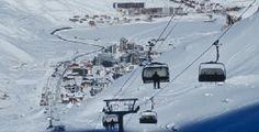 Ski resort Peisey Vallandry in France