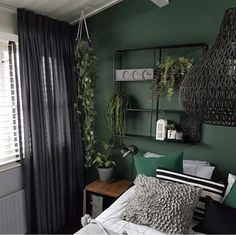 Room panel: 60 unique and creative ideas to decorate - Home Fashion Trend Green Bedroom Decor, Room Ideas Bedroom, Home Decor Bedroom, Green Rooms, My New Room, Home Fashion, Room Inspiration, Bedrooms, Bedroom Color Schemes