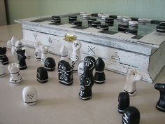 A set of chess and checkers. Board games. от VictoriasClocks