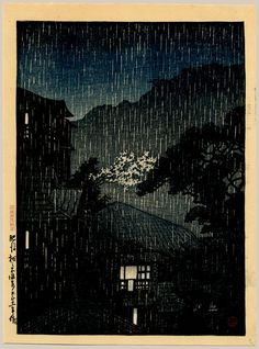 Thumbnail of Original, Limited Edition Japanese Woodblock Print by Hasui, Kawase Japanese Art Styles, Japanese Prints, Art Occidental, Toledo Museum Of Art, Japanese Landscape, Art Japonais, Asian History, Snow Scenes, Parasol