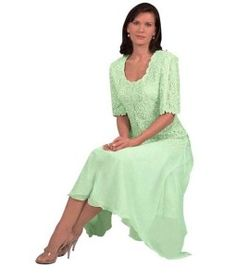 Short sleeve plus size beaded mint green mother of the bride / Mother of the groom dresses - Beaded gowns