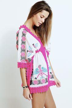 Kaftan con puntilla - 275,00€ : Zaitegui - Moda y ropa de marca para señora en Encartaciones