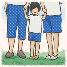 【nanapi】 型紙なしで手作りできる「ゴムパンツ」をご存知でしょうか?子供の洋服を手作りするときに、同じ布を使って大人用も作れば、サイズ違いでお揃いにできるんですよ。ここでは、ゴムパンツの作り方を紹介しています。裾上げ部分をテープでつけて、股をミシンで縫い合わせ、ゴムを通せばあっと言う間... Diy And Crafts, Family Guy, Guys, Sewing, My Love, Pattern, Handmade, Fictional Characters, Fashion