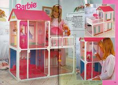 A Barbie House not sold in the U. Dreamhouse Barbie, Barbie Doll House, Barbie Toys, Barbie Dream House, Barbie 1990, Childhood Toys, Childhood Memories, Vintage Barbie, Vintage Toys