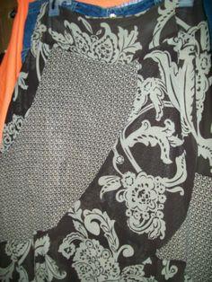 22w w46 h66 l34 bandolino beige amp brown side zipper waist skirt