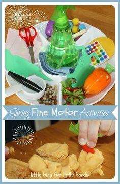 Spring Fine Motor Mini Activity Tray