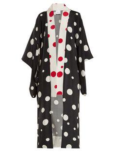 Mameha dot-print silk-cady kimono jacket   Racil   MATCHESFASHION.COM