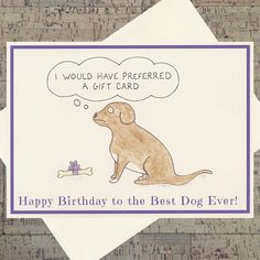 Dog Birthday Card Funny Cards
