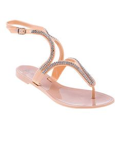 fcda67a611a7 Take a look at this Beige Diamond Sandal by Dizzy Shoes on  zulily today!  Women s Jelly SandalsFashion ...