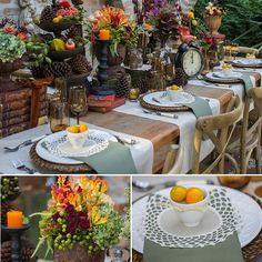 mesa posta outono, mesa posta, decoração mesa, outono inverno