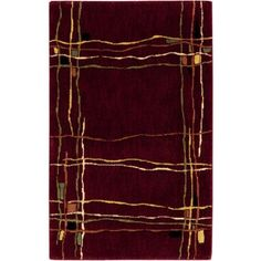 Nourison Parallels Collection Rug, Red