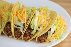 This recipe for Taco Bell Copycat Tacos is just the recipe you are craving. The taco recipe incorporates all the right seasonings to give the distinctive Taco Bell flavor. Taco Bell Recipes, Sausage Recipes, Beef Recipes, Cooking Recipes, Copykat Recipes, Spicy Recipes, Mexican Food Recipes, Ethnic Recipes, Taco Bells