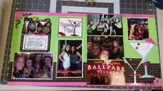 Bachelorette party scrapbook layout, www.justkitting.citymax.com