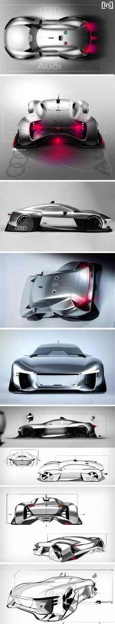 There's something distinctly Robocop-esque about the Audi R5 concept by Maik Müller. It comes with soft curves, but still manages to look bold, rugged, and here to save humanity. Designed for his diploma project, the R5 explores an aesthetic that cars may adopt in the next 20 or so years. The form exercise results in a rather interesting looking car with air intakes on the front, back, and even the top.