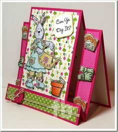 Can You Dig It created by Frances Byrne Stepper Cards, Making Cards, Kids Cards, Hello Everyone, Projects To Try, Paper Crafts, Easter, Stamp, Templates