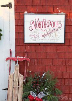 North Pole Trading Company FREE Christmas Silhouette Cut File