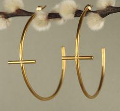 Gold Jewelry For Bridesmaids Big Gold Hoop Earrings, Art Deco Earrings, Tribal Earrings, Statement Earrings, Cross Earrings, Gold Jewelry For Sale, Clean Gold Jewelry, Italian Gold Jewelry, Shops