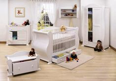 Baby white nursery furniture is versatile. Different ideas are applicable to make the better designing and decorating baby room at high rank