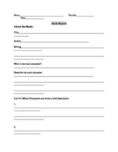 education world biography book report template history