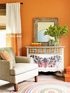12 Best Shades of Orange   Ceilings  Peach and Room. Orange Living Room Furniture. Home Design Ideas