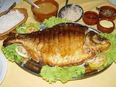 Imagem da receita Pacú assado com legumes e queijo