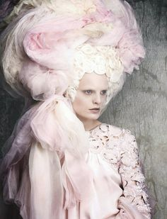 Hanne-Gaby-Odiele, Chanel Couture by Luigi&Iango for Vogue Germany, pastel pink