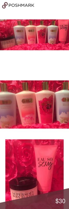 HUGE Victoria's Secret Lotion Bundle All New, Includes Full Sizes of Eau So Sexy, Coconut Milk Body Butter, Pure Seduction, Pure Daydream, and Secret Charm (2) Victoria's Secret Other