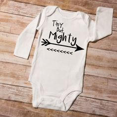 This bodysuit is perfect for your Little One! Made with high quality heat transfer vinyl. Makes the perfect gift and would be great for your favorite mom to be. Comes on a Carters or Gerber Brand Onesie. Your choice of short or long sleeve is available. :)  ------ Bodysuit Sizes------ Newborn (NB) 5 - 8lbs. 0-3M 8 – 12lbs. 3-6M 12 – 16lbs. 6-9M 16 - 20lbs. 12M 20 - 24lbs. 18M 24 - 28lbs. 24M 28 - 32 lbs.   If you are unsure of sizes I recommend going up a size. Bodysuits are 100% cotton and…