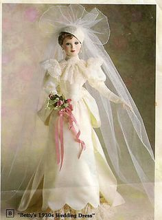 Bride Doll Betty's 1930's Wedding Dress from Astion-Drake Gallerys By Tumminio