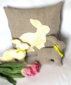 Мир моего творчества: Пасхальная подушка с кроликом