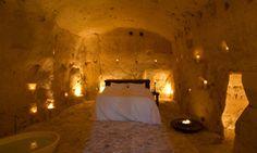 "Sextantio Hotel ""Le Grotte della Civita"" in Matera, Basilicata (Southern Italy). Hotel Original, Rooms Ideas, Unusual Hotels, Cave Hotel, Southern Italy, Beautiful Hotels, Amazing Hotels, Hotel Reviews, Best Hotels"