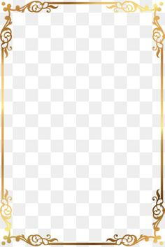 Vector gold pattern frame PNG and Vector Page Borders Design, Border Design, Borders For Paper, Borders And Frames, Border Pattern, Gold Pattern, Frame Floral, Wedding Borders, Certificate Design Template