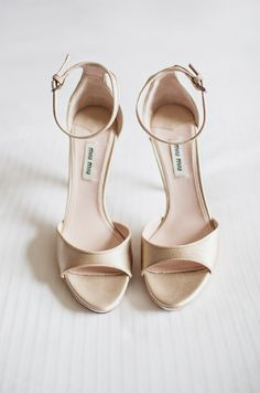 """Naked"" wedding shoes by Miu Miu"