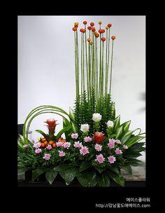 Composizioni floreali in casa Hi, this is Aceflower. Contemporary Flower Arrangements, Tropical Flower Arrangements, Flower Arrangement Designs, Ikebana Flower Arrangement, Church Flower Arrangements, Beautiful Flower Arrangements, Altar Flowers, Church Flowers, Flowers Garden