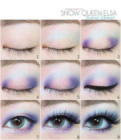 step by step elsa makeup - Google Search