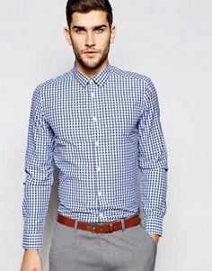 ASOS Gingham Check Shirt In Regular Fit