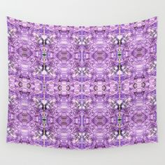 lilac stone flower Wall Tapestry