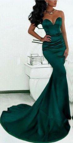 4f2c3479681 (Loki dress) dark green mermaid evening gowns prom dresses long prom  dresses long open back  (. Robe De Soirée SirèneRobes ...