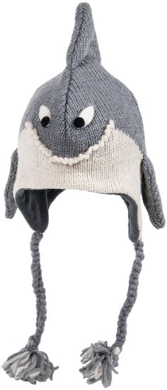 babda4081111e4 Hand knit smiling shark hat with tassels and fins. Alexandra: the maker of  your gloves also makes animal hats. Wouldn't Malechi look cute in a shark  one?