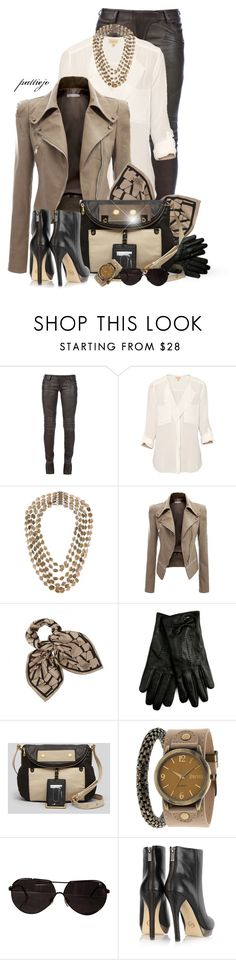 """""""Downtown Missy Brown"""" by rockreborn ❤ liked on Polyvore featuring Balmain, T. Babaton, Silvia Gnecchi, Doublju, Lanvin, Lipsy, Marc by Marc Jacobs, Decree and MICHAEL Michael Kors"""