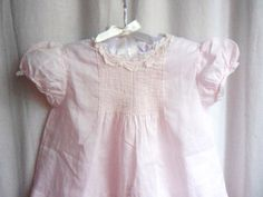 Handmade Baby Dress Pink Embroidered Lace, Feltman Bros.