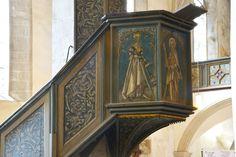 """Op de kansel van de """"Andreaskirche"""" te Eisleben heeft Dr. M. Luther op 15 februari 1546, drie dagen voor zijn ontslapen, voor de laatste maal het Evangelie verkondigd. Tekst: Matth.11:25-30 : """"De Jubel-en Heilansroep van Jezus"""". """"Verwacht de Here door het geloof, dan heb je gewonnen, dan ben je de dood ontlopen"""". """"Protestants Nederland"""" 70e jg. okt.2004."""
